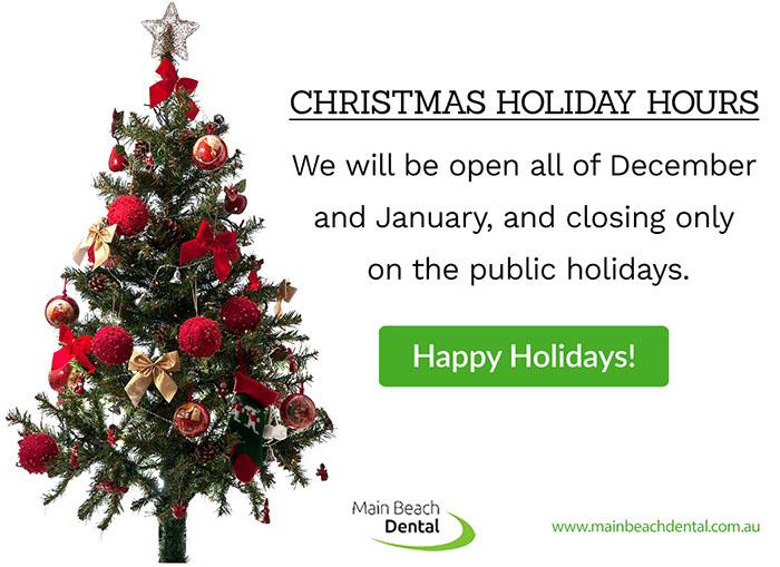 Main Beach Dental Christmas Holiday Hours | Dentist Main Beach