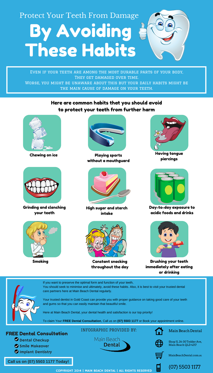 Protect Your Teeth From Damage By Avoiding These Habits