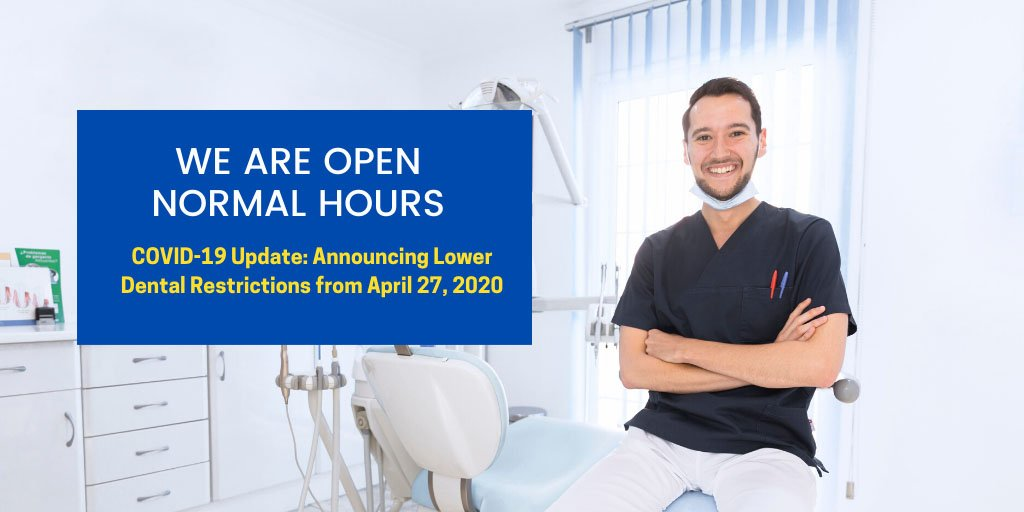 announcing eased dental restrictions from 27 april 2020